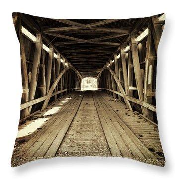 Nevins Bridge Throw Pillow by Joanne Coyle