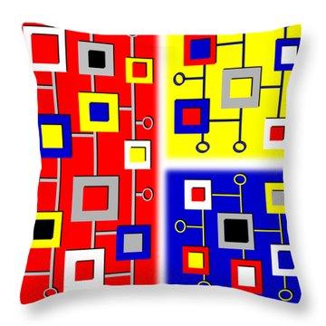 New Age De Stijl Throw Pillow by Tara Hutton