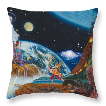 New Age  Throw Pillow