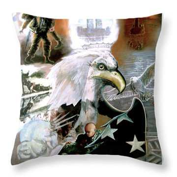 New American Pride Throw Pillow by Todd Krasovetz