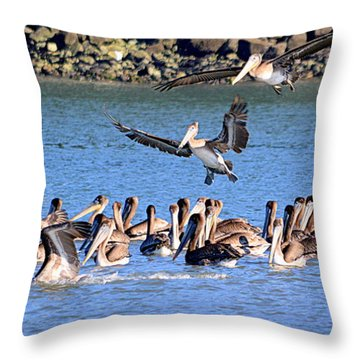 Throw Pillow featuring the photograph New Arrivals by AJ Schibig