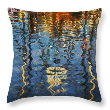 New Bedford Waterfront No. 5 Throw Pillow by David Gordon