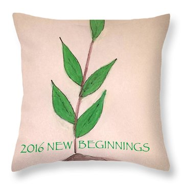 New Beginnings 2016 Throw Pillow