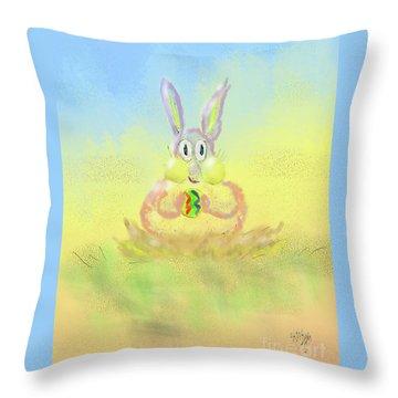 Throw Pillow featuring the digital art New Beginnings by Lois Bryan