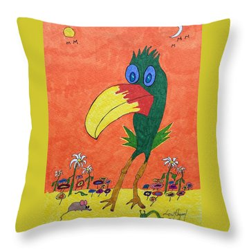 New Bird On The Block Throw Pillow