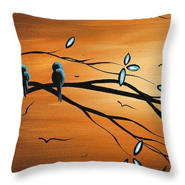 New Bloom By Madart Throw Pillow by Megan Duncanson