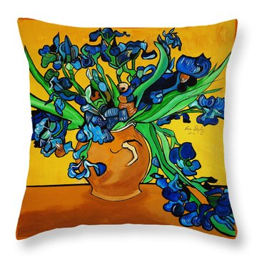 New Blue By You Throw Pillow