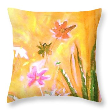 New Daisies Throw Pillow