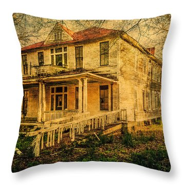 New Dannemora Hotel Throw Pillow by Phillip Burrow