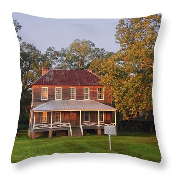 New Dawn On Old House Throw Pillow