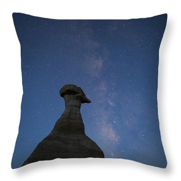 New Dawn Over The Burnham Badlands Throw Pillow