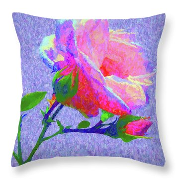 New Dawn Painterly Throw Pillow