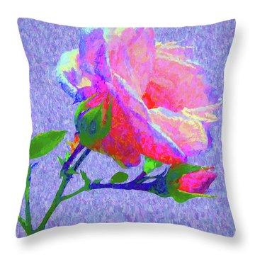New Dawn Painterly Throw Pillow by Susan Lafleur