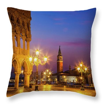 New Day At St. Marks Throw Pillow
