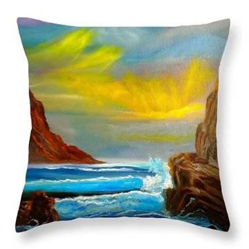 New Day In Paradise Throw Pillow