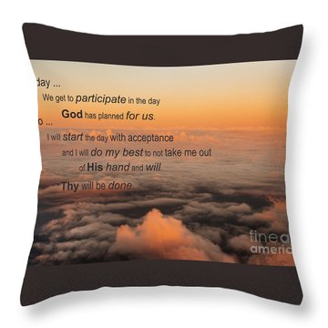 New Day Of Acceptance Throw Pillow by MaryJane Armstrong
