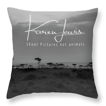 Throw Pillow featuring the photograph New Day On The Mara by Karen Lewis