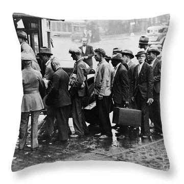 New Deal: C.c.c. Camp Throw Pillow by Granger