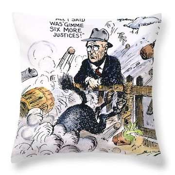 New Deal: Supreme Court Throw Pillow by Granger