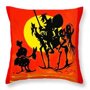 New Don Quixote Throw Pillow