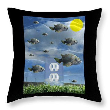 New Energy Throw Pillow by Keith Dillon