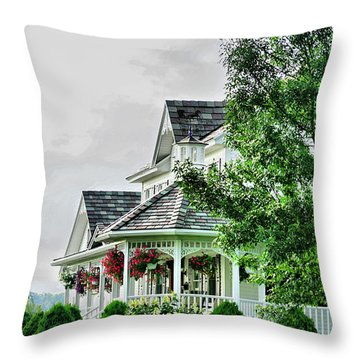 New England Beauty Throw Pillow