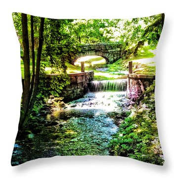 New England Serenity Throw Pillow