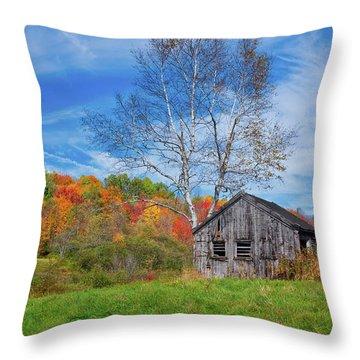 New England Fall Foliage Throw Pillow
