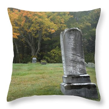 New England Graveyard During The Autumn  Throw Pillow by Erin Paul Donovan