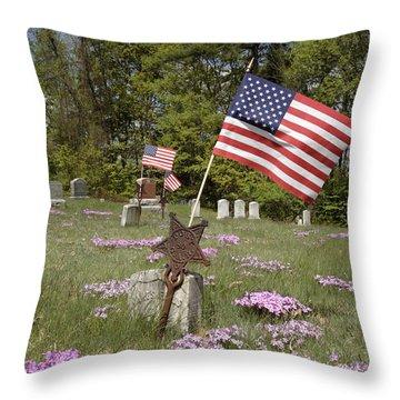 New England Graveyard Throw Pillow by Erin Paul Donovan