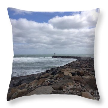 New England Jetty Throw Pillow