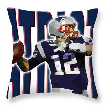 Throw Pillow featuring the digital art New England Patriots by Stephen Younts