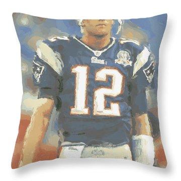 New England Patriots Tom Brady Throw Pillow