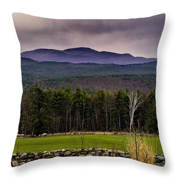 Throw Pillow featuring the photograph New England Spring In Oil by Mark Myhaver