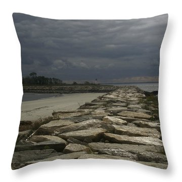 New England Sunlight  Throw Pillow