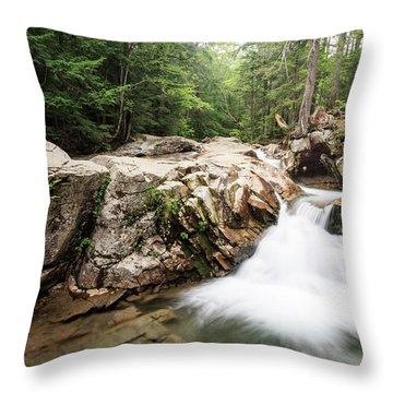 New England Waterfall Throw Pillow