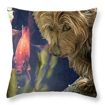 New Friends Throw Pillow by Chris Lord