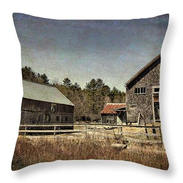 Throw Pillow featuring the photograph New Hampshire Old Barn  by Betty Pauwels