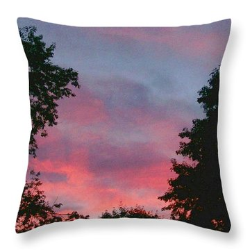 New Hampshire Sunset Throw Pillow