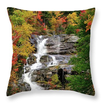New Hampshire Waterfall Throw Pillow by Betty LaRue