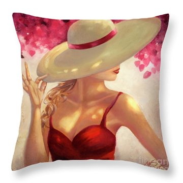 New Hat Throw Pillow