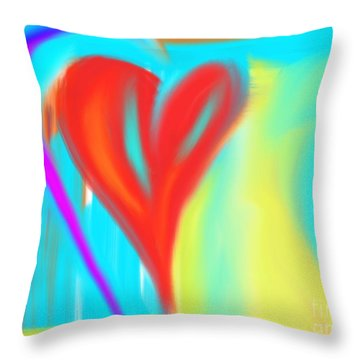 New Heart Throw Pillow