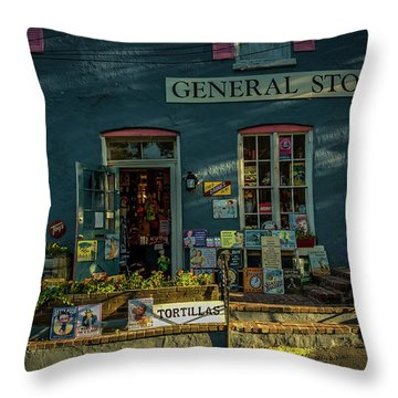 New Hope General Store Throw Pillow
