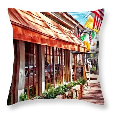 New Hope Pa - Outdoor Seating Now Open Throw Pillow