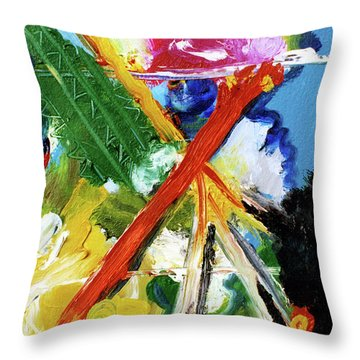 New Island #137 Throw Pillow by Donald k Hall