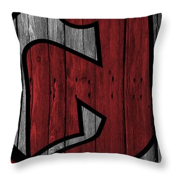 New Jersey Devils Wood Fence Throw Pillow