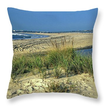 New Jersey Inlet  Throw Pillow by Sally Weigand