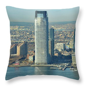 New Jersey Skyline Throw Pillow