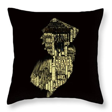New Jersey Typographic Map 4f Throw Pillow