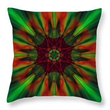 New Life Ablaze Throw Pillow